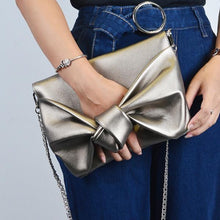 Fashion Bow tie Women Envelope clutch bag lady evening bags