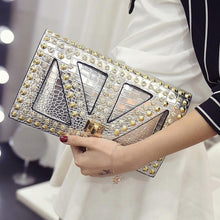 Fashion rivets Women clutch bag Diamond Ladies envelope evening bags Clutches