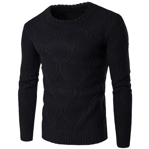 2018 new men's thickening warm stand collar sweater fashion cotton o-neck slim long sleeve sweater