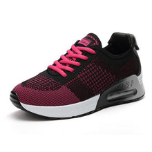 Woman Sports Running Shoes Heavy Bottom With Air Max Black Color Sneaker Height Walking Sneaker Shoes