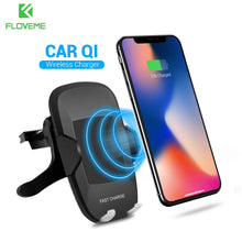 5V/2A Qi Wireless Car Charger , 360 Degree Rotation Car Holder for Mobile Phone