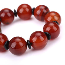 Men's Popular Bracelet Natural Red Jasper Wristband Jewelry Fashion Crystal Rhinestone