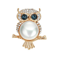 Classic Anime Crystal Owl Brooches Lapel Pin Rhinestone Jewelry Wholesale Gift 2018