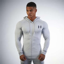New Fashion Hoodies Bodybuilding and fitness padded jacket Sweatshirts Muscle men's wind coat