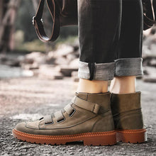 Men's ankle boots new arrival autumn winter high-top casual shoes hook-loop men shoes