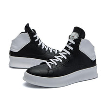 Men's black white anke boots new arrival lace-up casual shoes men boots comfortable moccasins