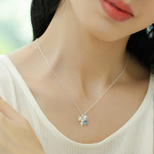 Silver Chain Necklace Butterfly Pendant Genuine 925 Sterling Silver Necklace For women
