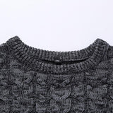 2018 New Autumn Winter Fashion Men's Warm Thick Slim Fit Men Pullover 100% Cotton Jacquard Sweater