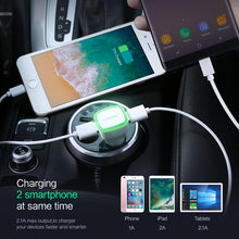 LED Car Charger Dual USB Output 2.1A Lighter DC 12-24V 2 Port Car-charger Phone Adapter