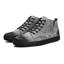 Men's ankle boots new autumn high-top lace-up casual shoes men boots comfortable chaussure