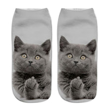 Cat Socks 3D Printing Women Low Cut Ankle Socks Casual Hosiery Printed Sock