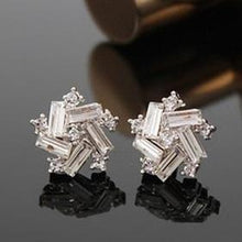 2018 New Fashion Cute Crystal Five Star Earrings Flower Earrings Square Stud Earrings