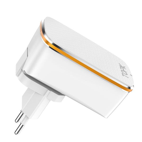 3-Port 5V/3.4A 17W Auto-ID EU&US 2-IN-1 Travel Wall Mobile Phone USB Charger Adapter