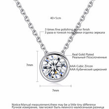 Simply Necklace Small Round 1 carat Hearts and Cubic Zirconia Pendant OL Style Necklace