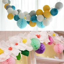 8cm 10pc Tissue Paper Honeycomb Balls Hanging Wedding Christmas Space Decoration