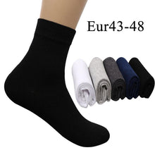 10PCS=5 Pairs Mens Cotton Dress Socks Plus Large Big Size Business Dress Socks