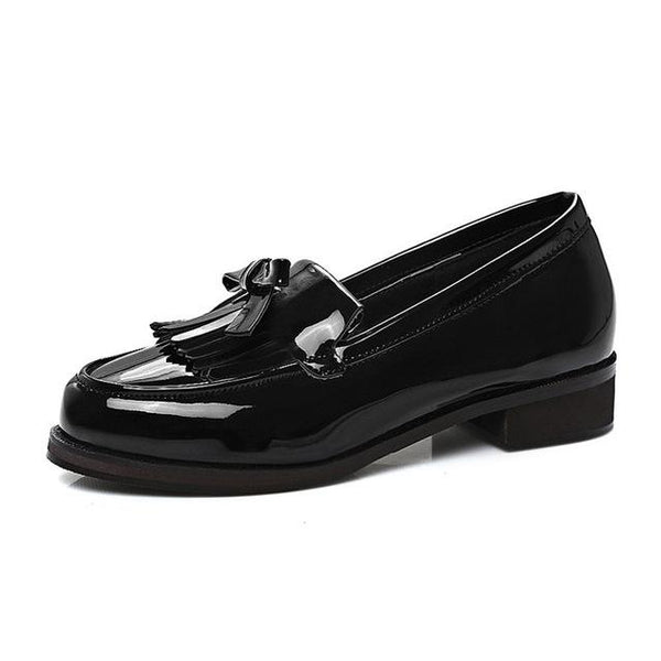 British Style Oxford Shoes Women Fashion Fringe Woman Oxfords Flats Shoes Comfort Slip-On Boat Shoes