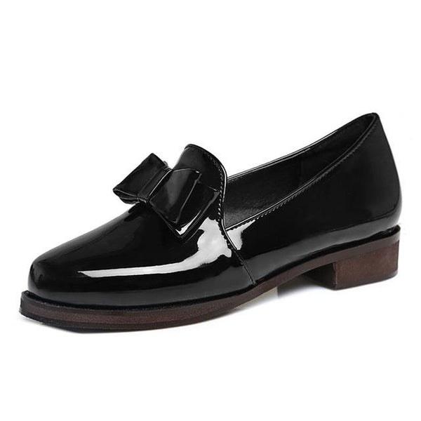 2018 Women Casual Shoes Flats Oxford Shoes Comfort Slip On Women Patent Leather Loafers Shoes