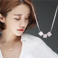 Personality Three-dimensional Block Brushed 925 Sterling Silver Korean Fashion Jewelry