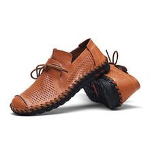 Men Leather shoes Genuine leather Slip-On Loafers Spring Summer Men Flats Handmade boat shoes