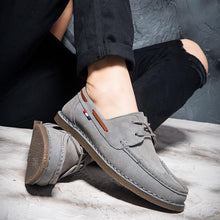 Men Luxury Brand Boat Shoes Genuine Leather Men Casual Shoes Classic England Style Loafer