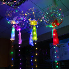 JOY-ENLIFE 3m Led String Lights With 18inch Transparent PVC Helium Balloon Christmas Wedding Party Decor Birthday Party Supplies