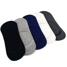 5Pairs/Lot Fashion Casual Men Socks High Quality Banboo & Cotton Socks Brief Invisible Slippers Sock