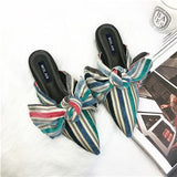 2018 Spring Sweet Big Butterfly Colorful Slippers Woman Shoes Slip On Lady Slides