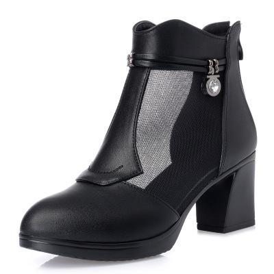 2018 Fashion Women's Spring Summer Open Toe Boots Casual Mesh Ankle Boots