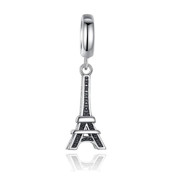 925 Sterling Silver Travel Dream House Eiffel Tower Pendant Charm