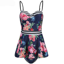 2018 Tankini Set Floral Printed Swimwear Women Push Up Two-piece Swimdress