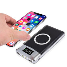 External Battery Bank Built-in 20000mah Power Bank Wireless Charger Powerbank Portable