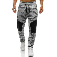 Men Casual Pants Straight Trousers Camouflage Long Pants Cotton Sweatpants