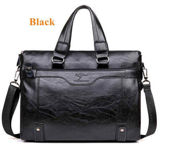 2018 Men Casual Briefcase Business Shoulder Leather Messenger Bags