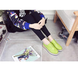 Candy Colors Shoes Woman Platform Women Oxfords British Style Creepers Cut-Outs Flats Casual Shoes