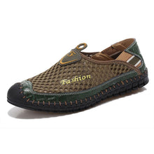 Men's Summer Mesh Shoes Breathable Man Casual Walking Footwear Retro Loafers Boat Shoe