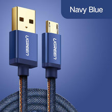 5V2A Micro USB Cable Denim Braided Fast Charging Data Cable for Samsung Huawei HTC Cable Mic