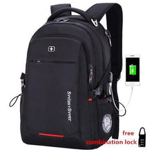 Men Multifunction USB charging fashion business waterproof 15.6 inch Laptop backpack
