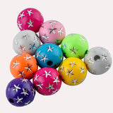 Fashion 8 mm 80PCS Acrylic Mixed Color Beads Round Loose Bead DIY