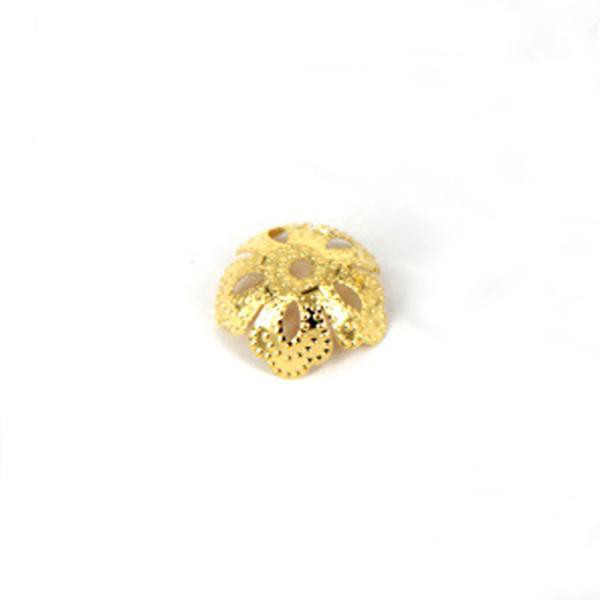 20*5mm 50 pcs/bag Hollow Flower Gold Silver Bronze Nickel Plated Bead Caps