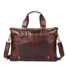 Retro male first  layer cow  leather Casual  bags men's handbag briefcase