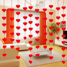 lot Love Heart Curtain DIY Non-woven Garland Romantic Wedding Party Decor Marriage Room