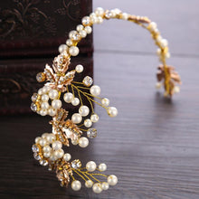 Wedding Hair Accessories Vintage Gold Color Leaf Headband Hairband Tiara Headpiece Jewelry