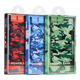 Camouflage series Power Bank 10000mah Portable USB with LED indication Power bank