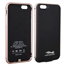 IPhone 6 6s Plus Aluminum Frame Back Cover Power Bank Battery Charger Case