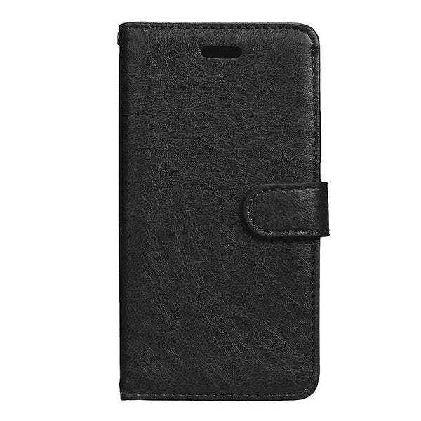 Case For Motorola Moto M / G5 Magnetic Suction Cover Wallet Case Plain Business Leather Shell