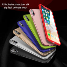 New 360 Case For iPhone 6 6s 7 Plus Case Shockproof Slim Cover Full Degree Protective Tempered Glass For iPhone 5 5s 8 8 Plus X