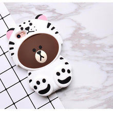 Cartoon Animals Bear Pattern Case Full Cover Shell Soft Silicone Cover Anti-knock Back Case