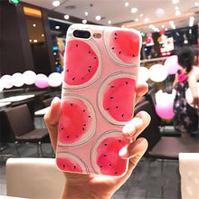 Soft Silicon Phone Case For iPhone Red Fruit Watermeloon TPU Thin Case Protective Fundas