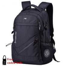 Woman men MP3 music USB charging fashion business casual waterproof backpack